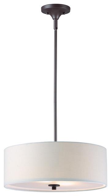 Bongo 3-Light Pendant / Semi-Flush Mount, Oil Rubbed Bronze.