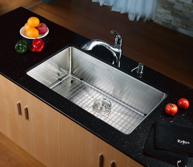 kraus stainless steel kitchen sinks kraus 32 inch undermount single bowl stainless steel 8828