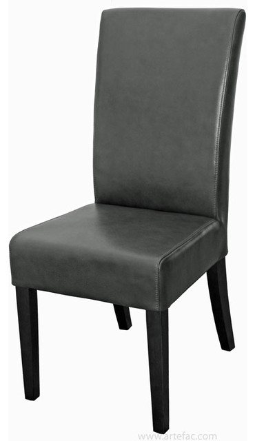 Top Grain Leather Dining Chair Black