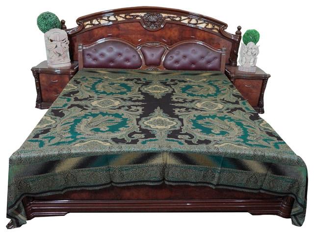 blanket kashmir indian bedding king size bed throw mogul mediterranean throws by mogul. Black Bedroom Furniture Sets. Home Design Ideas