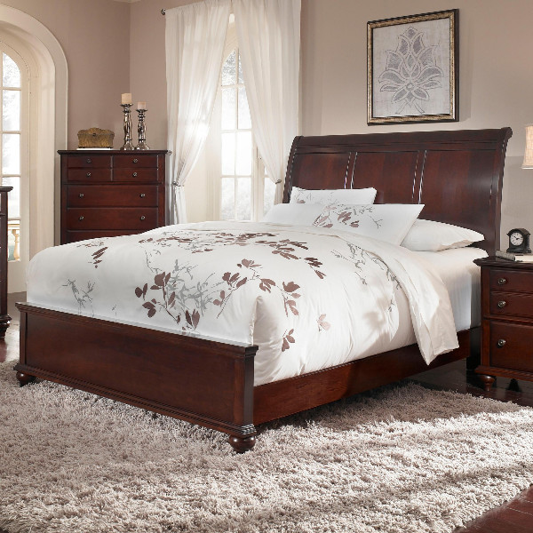 Broyhill Furniture - Hayden Place Eastern King Storage Sleigh Bed in Dark Cherry