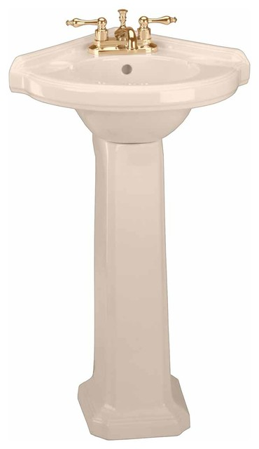 Shop Houzz Renovator 39 S Supply Classic Pedestal Sink Bone China Corner Bathroom 4 Center