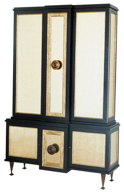 Global Views Marcel Cabinet Black - Transitional - China Cabinets And Hutches - by Hudson Home Decor