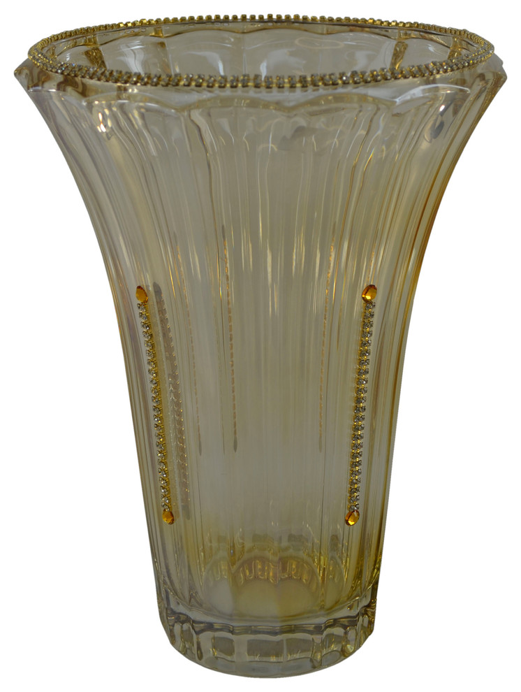 Italian Vase With Crystal Decoration Vases By Three Star Import And Export
