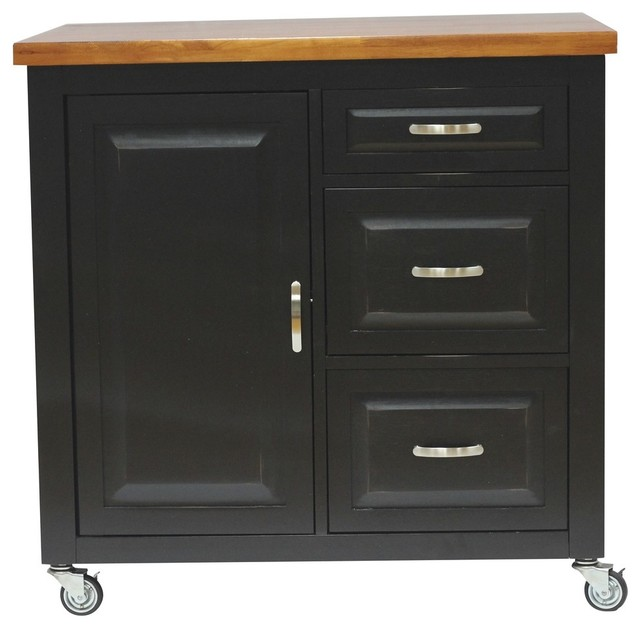 Black Cherry Selections Kitchen Cart