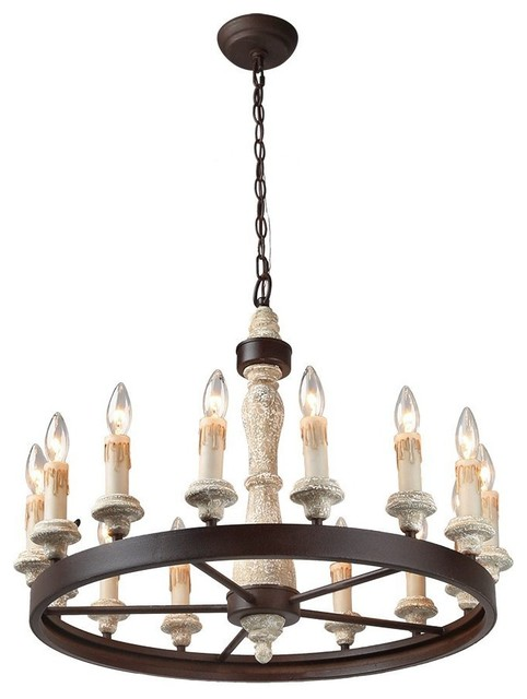 15 Light Shabby Chic French Country Wooden Chandelier Lighting Rustic Farmhouse Chandeliers By Golight Inc