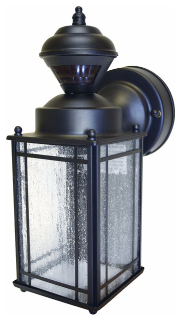 Heathco Black Mission Style Motion Sensing Security Lantern.