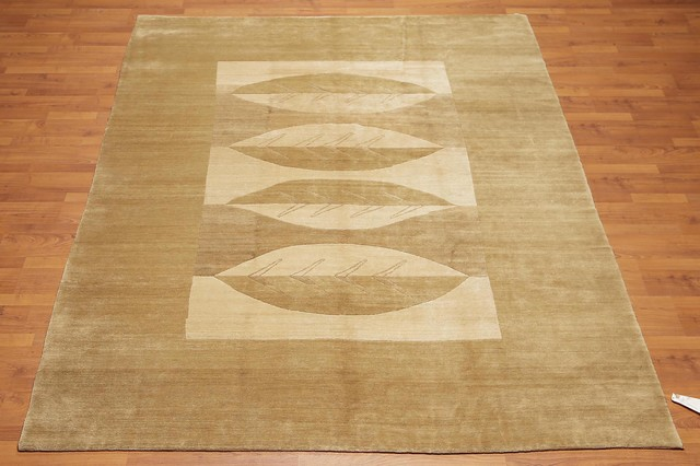 Hand Knotted Tibetan Modern Wool Area Rug 7 X9 Contemporary Area Rugs By Oriental Rug Of Houston