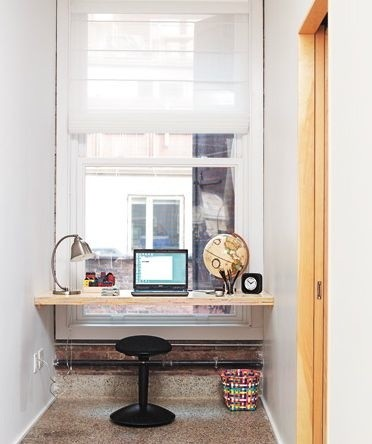 living space eclectic home office