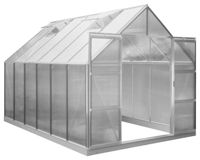 Halls Magnum Greenhouse, Aluminum, 12&x27;x8&x27;.