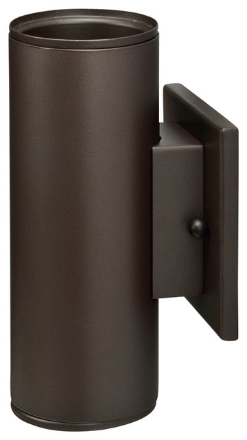 Led Outdoor Cylinder Up/down Wall-Mount Light, Bronze.
