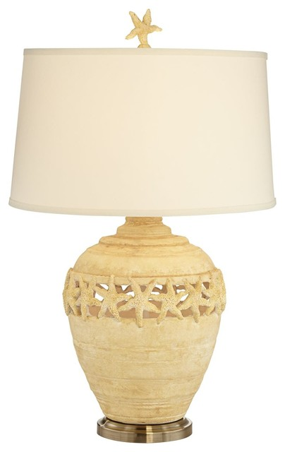 Pacific Coast Sand Starfish Table Lamp, Coastal Sand   Beach Style   Table  Lamps   By Lighting And Locks