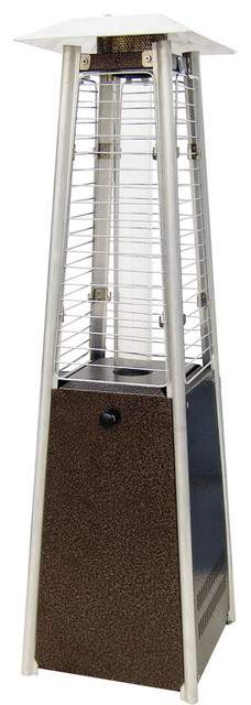 Mini Pyramid Tabletop Propane Patio Heater, Hammered Bronze.