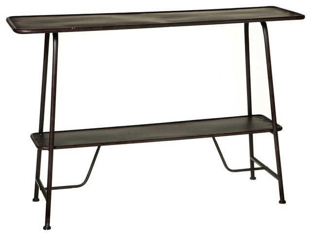 how to fix kitchen faucet dakota distressed black console table contemporary 24244