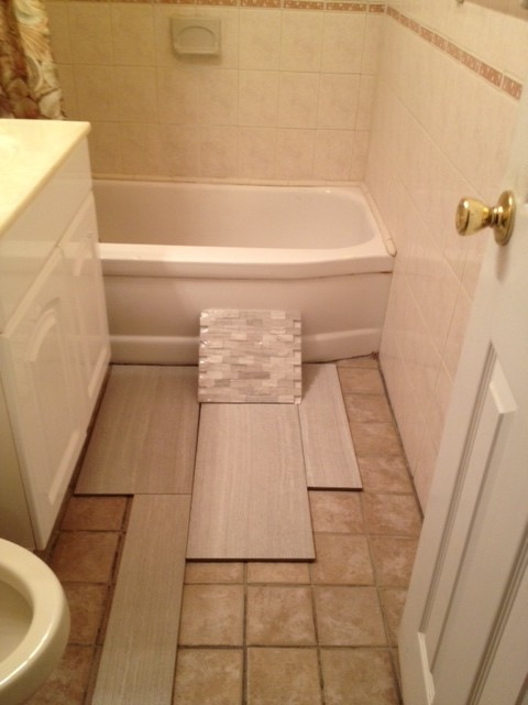 Beau Small Bathroom  Tile Choice And Layout