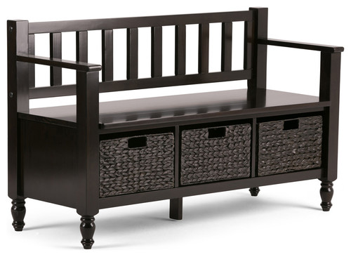Entryway Storage Bench in Dark Exeter Brown