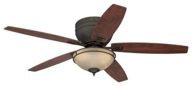 "Westinghouse 72096 Carolina Reversible 5-Blade Ceiling Fan, Oil-Rub Bronze, 52""."