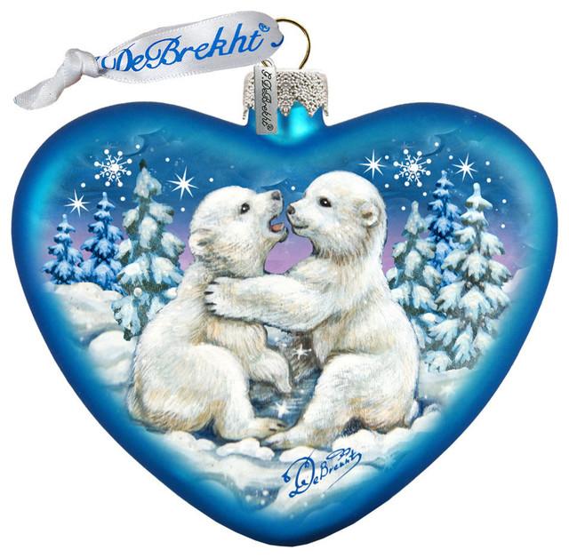 Cubs Christmas Ornaments.Polar Cubs Ornament