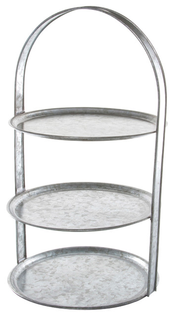 3 Tier Galvanized Cake Stand Industrial Dessert And