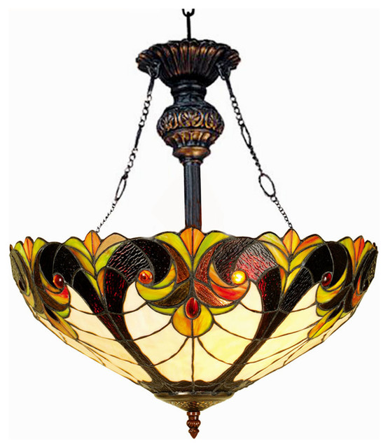 Liaison 2-Light Victorian Inverted Ceiling Pendant.