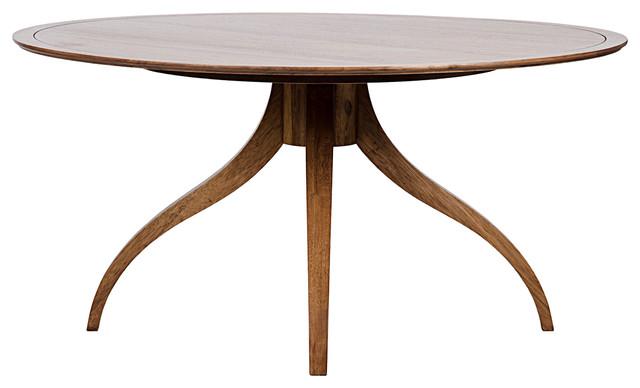 Beau Brantley Modern Classic Dark Brown Walnut Round Dining Table