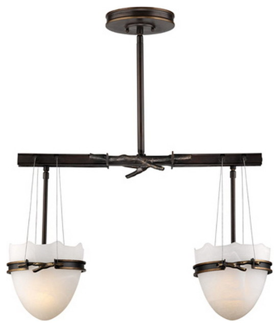 Kitchen Island Lighting Rustic: Forecast Bronze Windrush Chandelier/Island Light