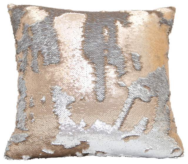 angelo sequin pillow gold and silver