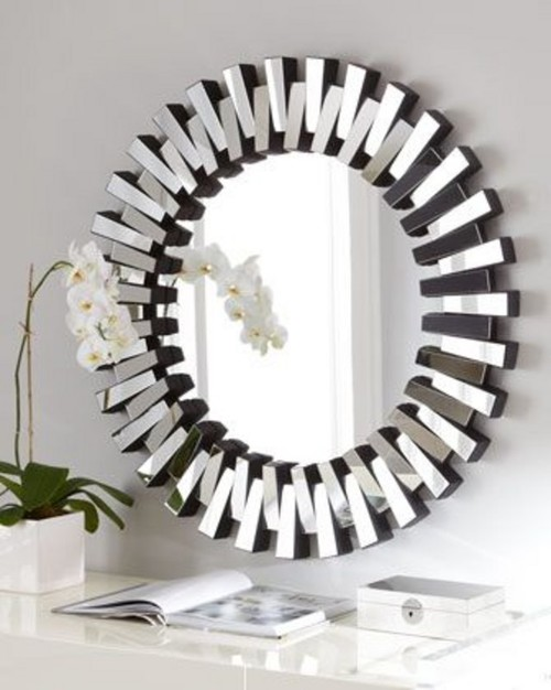 I used the round mirror in another spot. I like mirrors and think they can