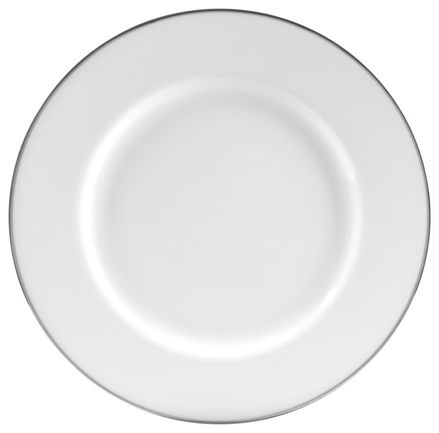 Dinner Plates Set of 6 Silver Line  sc 1 st  Houzz & Line Dinner Plates Set of 6 - Contemporary - Dinner Plates - by 10 ...