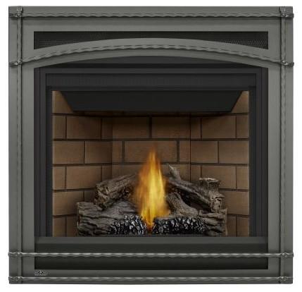 Ascentx36 Gx36-1 Natural Gas Fireplace, Porcelain Panels, Trim Kit, Mv