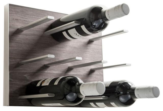 Modular Wine Rack, Gray Oak, 4-Pack.