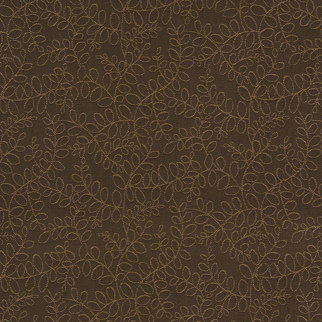 Tan And Brown Floral Vines Indoor Outdoor Upholstery Fabric By The Yard  Contemporary Outdoor