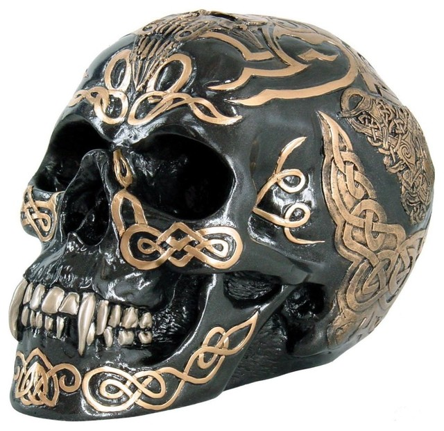 Celtic Skull - Traditional - Holiday Accents And Figurines - by ...