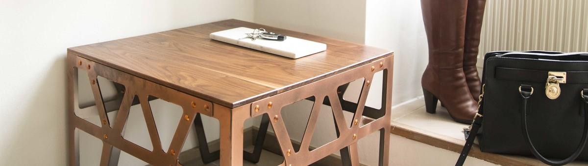 Couchtisch industrial style finest massivholz couchtisch for Couchtisch industrial style