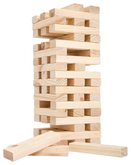 Nontraditional Giant Wooden Blocks Tower Stacking Yard By Hey