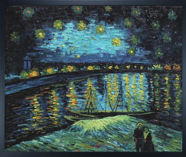 Van Gogh Starry Night Over The Rhone Modern