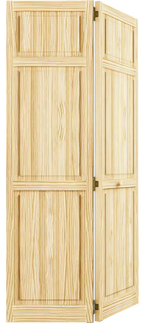 "Bi-Fold Closet Door, Traditional 6-Panel, 1""x36""x80""."