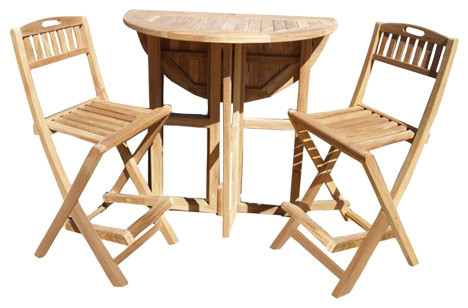 Dropleaf Counter Table Folding Chairs Grade A Teak 5 Lower Then