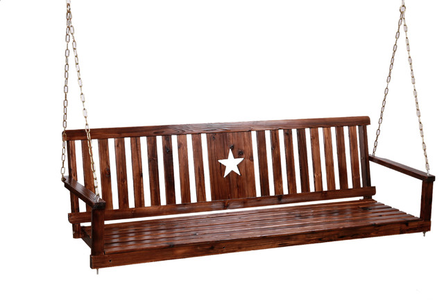 Char-Log Star Porch Swing.