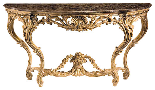 Louis Xv Carved Console Table Victorian Tables By Inviting Home Inc