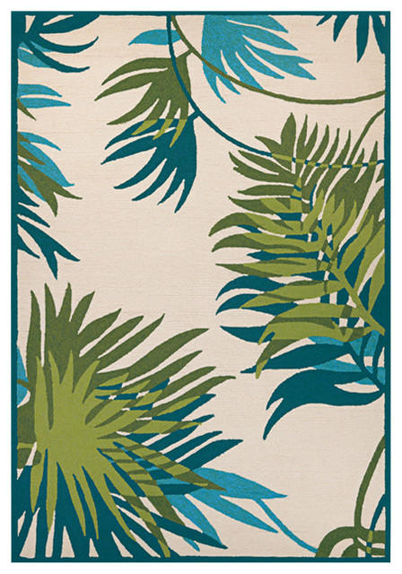 tropical area rugs 5x8 honolulu hand hooked rug jungle leaves clearance