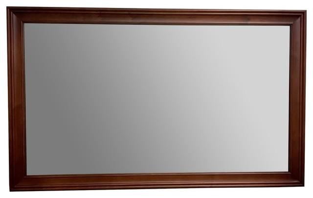 Wood Framed Bathroom Mirrors ronbow transitional solid wood framed bathroom mirror, colonial