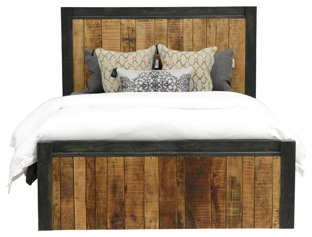 Reclaimed Wood Panel Bed, California King, California King rustic-panel-beds - Reclaimed Wood Panel Bed, California King - Rustic - Panel Beds