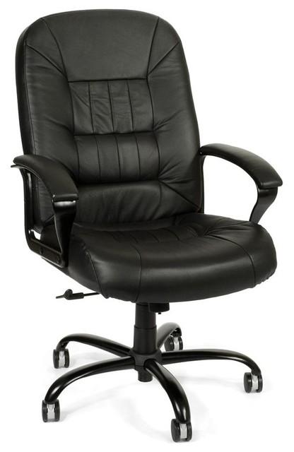Genial Big U0026 Tall Black Leather Swivel Desk Chair W Padded Arms