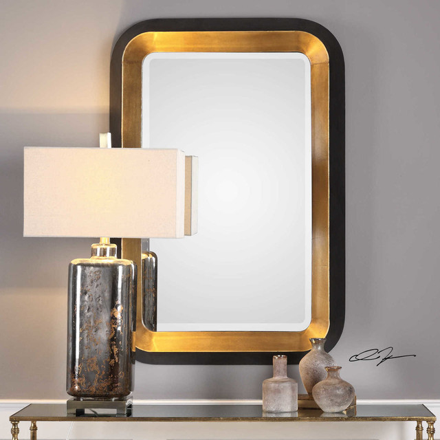 Uttermost Metallic Gold Wall Mirrors Niva Mirrors. -2