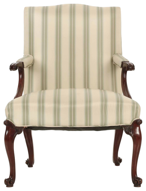 Consigned English Chippendale Mahogany Antique Lounge Chair, 18th Century -  Traditional - Armchairs And Accent Chairs - by Silla, Ltd. - Consigned English Chippendale Mahogany Antique Lounge Chair, 18th