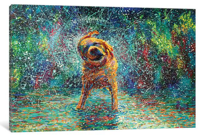 """""""Shakin' Jake Gallery"""" by Iris Scott, 60""""x40""""x1.5"""""""