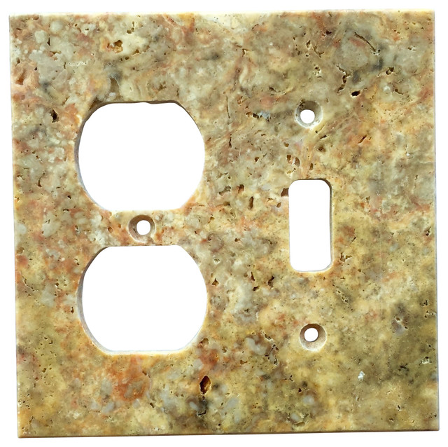 """5 Switch Outlet Cover New Scabos Travertine Switch Plate Cover Toggle Duplex 4.5""""x5.5 Design Decoration"""