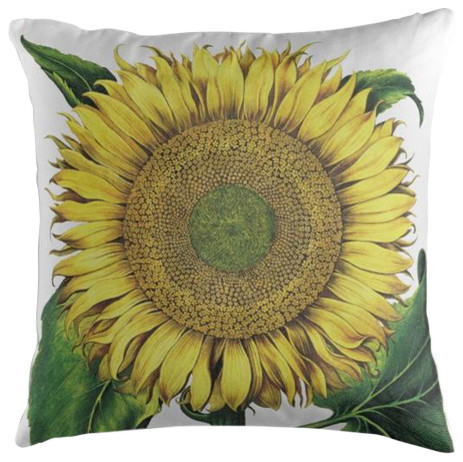Sunflower Botanical Cushion, 50x50 cm