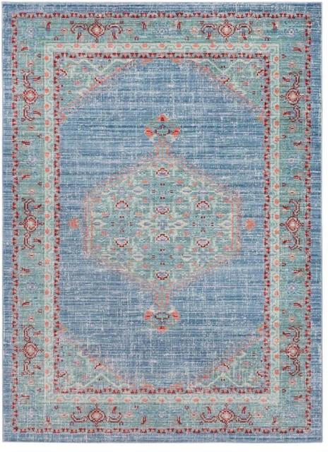 "Surya   Germili GER2311 Area Rug, Blue/ Green, 9'x 13'1"" Rectangle"
